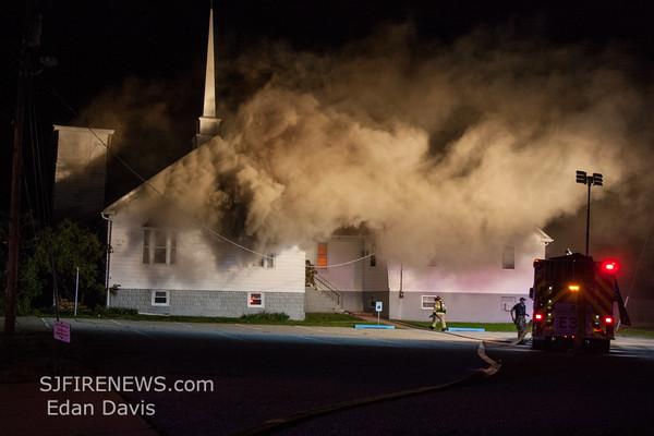04-03-2016, 3 Alarm Commercial Structure, Millville City, 29 N Pearl St  Mt  Pleasant  Methodist Church  (C) Edan Davis   (1)