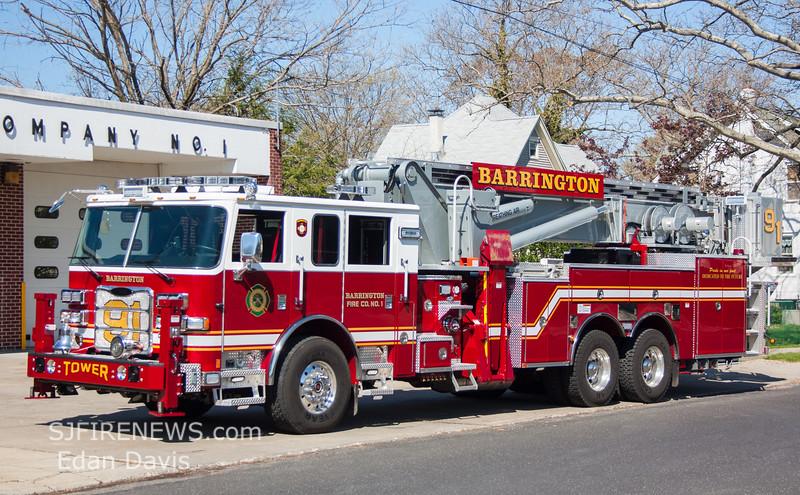 Barrington, Camden County NJ, Tower 91, 2016 Pierce Arrow XT - 1987 Aerialscope 95' (C) Edan Davis, www (3)
