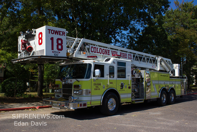 Cologne, Atlantic County NJ, Tower 18-55, 2004 Pierce Dash, 2000-400-100', (C) Edan Davis, www sjfirenews com